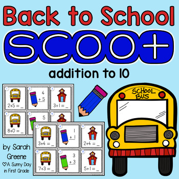 Back to School Scoot {addition to 10!}