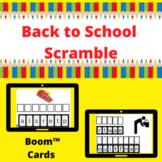 Back to School Scramble Boom™ Cards™ -digital