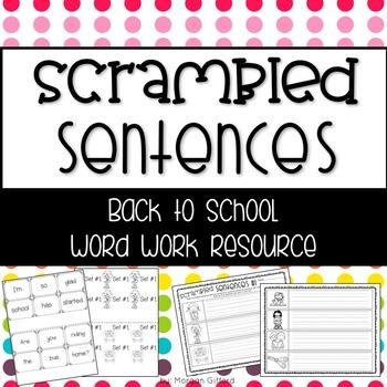 Back to School Scrambled Sentences