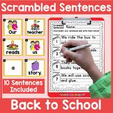 Back to School Scrambled Sentences Center