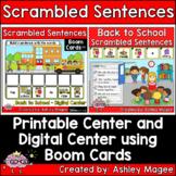 Back to School Scrambled Sentences Center - Printable and Digital