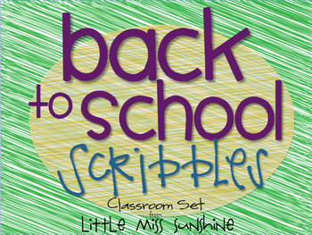 Back to School Scribbles {Classroom Decor Set}