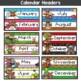 Illustrated Calendar Set Moose Theme
