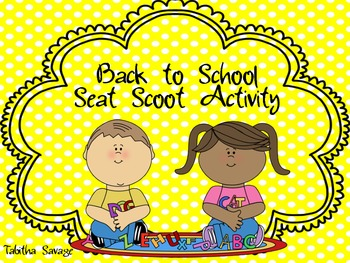 Back to School Seat Scoot Activity