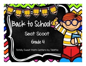 Back to School Seat Scoot Grade 4