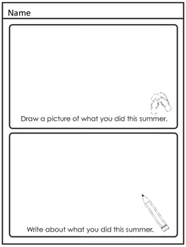 Back to School Second Grade Worksheets Printables Activities August September