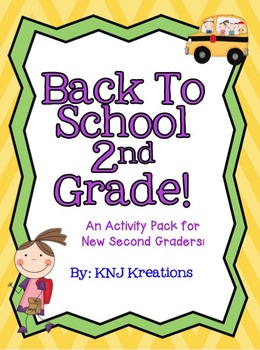 Back to School: Second Grade Activity Packet