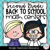 Back to School Second Grade DIGITAL Math Centers for GOOGLE Classroom