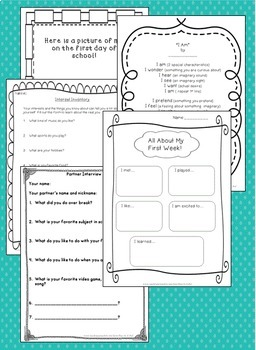 Back to School ~ Second Grade ~ First Day of School Activities!