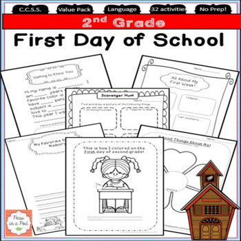 Back to School Second Grade First Day of School Activities!