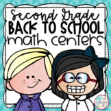 Back to School Second Grade Math Centers
