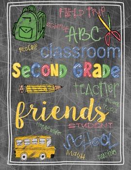 Back to School Second Grade Teacher's Gift