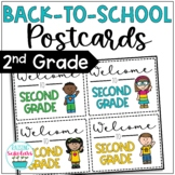 Back to School Second Grade Welcome Back Postcards Editable