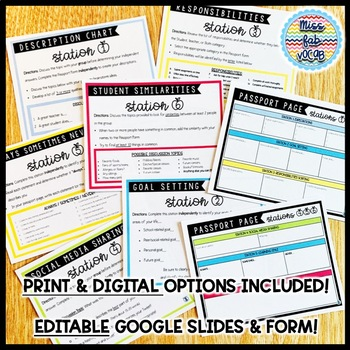 Back to School: Secondary Starter Stations
