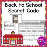 Back to School Secret Code Writing