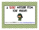 Back to School Secret Message FREEBIE