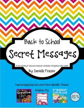 Back to School Secret Messages