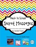 Back to School Secret Messages