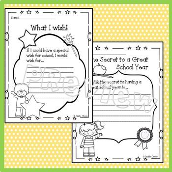 #StartFreshBTS Back to School Writing Prompts & Portrait Page Freebie