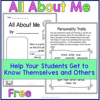 All About Me Self Esteem Activities {FREE}