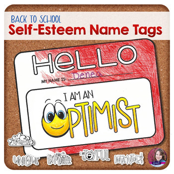 Back to School Self-Esteem Name Tags