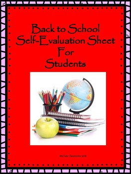 Back to School Self-Evaluation Form for Students