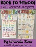 Back to School Self-Portrait Templates {Editable}