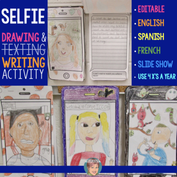 All About Me Selfie | Fun New Years Activity | Selfie Drawing + Writing Prompts