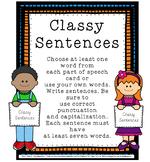 Back to School Sentence Activities