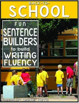 Back-to-School Sentence Builders