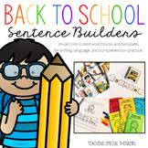Back to School Sentence Builders {Writing, Language, & Com