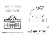 Back to School Sentence Scramble (Interactive Booklet)