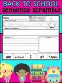 Back to School Sentence Scramble Worksheets