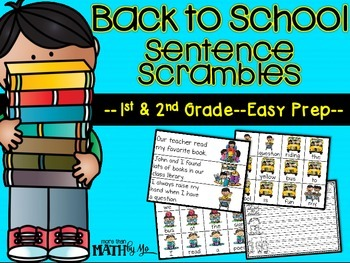 Back to School Sentence Scrambles