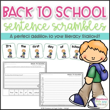 Back to School Sentence Scrambles