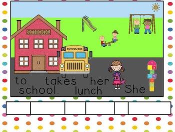 Back to School Sentence Scrambles for ActivInspire