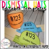 Back to School Sentence Strip Dismissal Hats- Editable