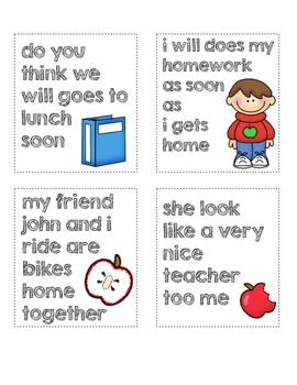 Back to School Sentence Writing Practice Dice