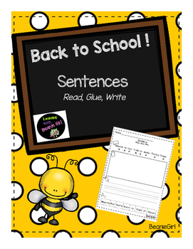 Back to School Sentences