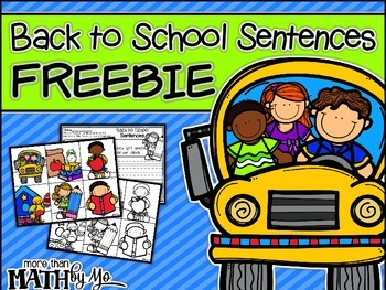 Back to School Sentences FREEBIE