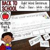 Back to School Sentences {Read-Trace-Write-Glue}
