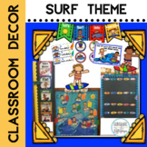 Surfing Theme Classroom Decor Updated with Editable Slides