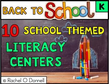 Back to School September Literacy Centers Kindergarten
