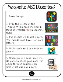 Back to School / September Making Words iPad Activity for Wordstudy