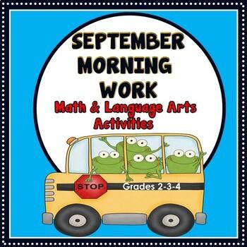 September Morning Work  - Grades 2-3-4