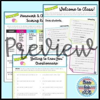 Back to School: Secondary Starter Kit!