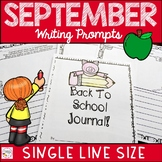 Back to School September Writing Prompt Journal