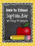 Back to School September Writing Prompts Freebie!!