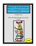 Back to School Series: Phonemic Awareness Bingo- Level 2