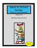Back to School Series: Phonemic Awareness Bingo. Sample